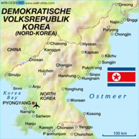 Map of North Korea - Map in the Atlas of the World - World