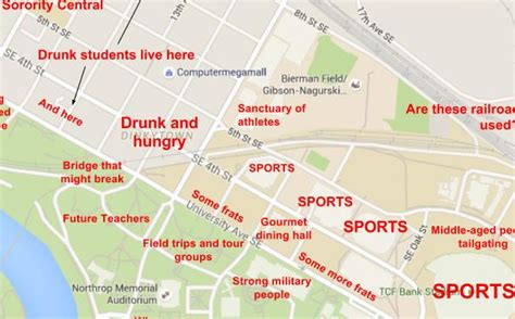 A Judgmental Map of the University of Minnesota Campus