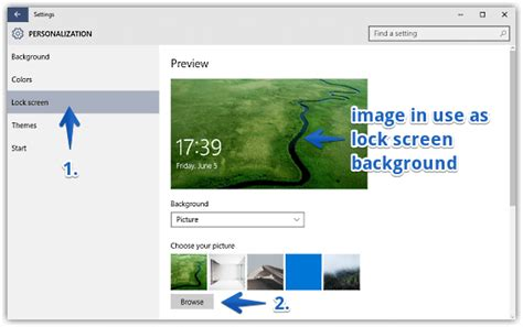 Set Any Image As Lock Screen Background In Windows 10