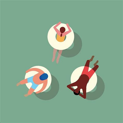 We're so obsessed with these above shot swimming illustrations